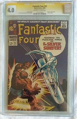 Fantastic Four 55 Cgc Ss Signed By Stan Lee