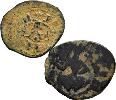 Cilician Armenia. Lot of 2 Copper Pogh.
