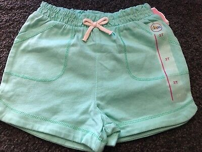 Toddler Girl Soft Green Cotton Shorts by Circo - Sz 3T - NEW