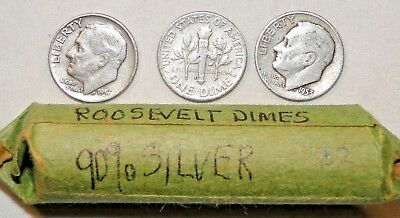 90% Silver Roll, Roosevelt Dimes Mixed Dates, B2