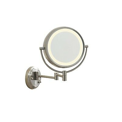 Conair BE6WMX Lighted 7X Brushed Nickel Wall Mount Fluorescent Hotel Makeup...