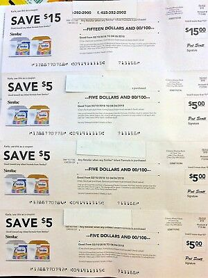 $30 Similac coupons four coupons exp. 04/26/2018