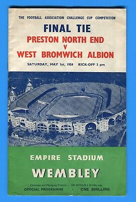 1954 FA Cup Final Preston North End v West Bromwich Albion