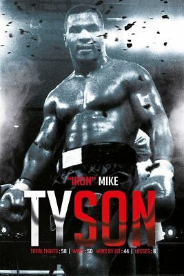 Mike Tyson (Boxing Record) - Poster 61x91,5 cm