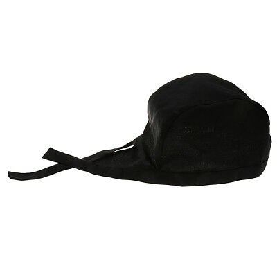 Chef Tableware Skull Kitchen Cap Professional Catering Black Chef Hat