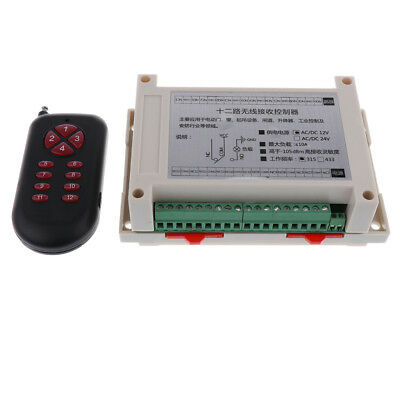 DC 12V Remote Control with 12 Buttons and Multi-Way Switch 315mhz