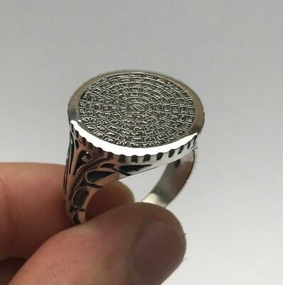 Islamic Jewelry 99 Names of Allah (C.C) Cool 925K Sterling Silver Men's Ring