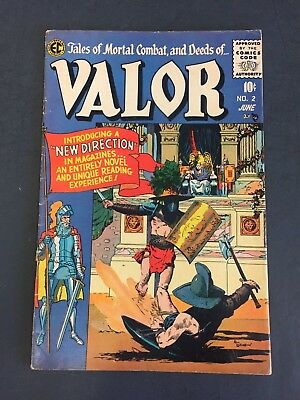 Valor # 2 ( 1955 )  E.c. Comics - Nice Copy - Tales Of Mortal Combat