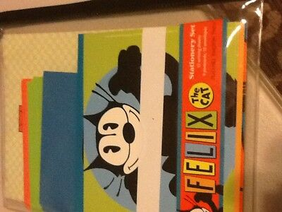 2004 NEW Old Stock Felix The Cat Post Cards Stationary Peaceable Kingdom Press