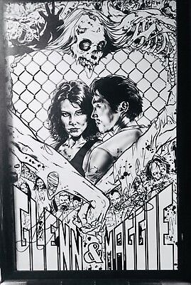 The Walking Dead's Steven Yeun and Lauren Cohan hand signed Limited Ed litho