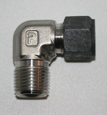"1/2"" Tube x 1/2"" MNPT SS Male Elbow Fitting Parker CPI 8-8 CBZ-SS"