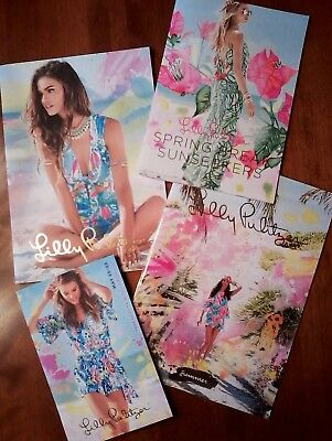 LOT 4 LILLY PULITZER UPSCALE FASHION CATALOGS 2017 ~ Great Condition ~ Fast Ship