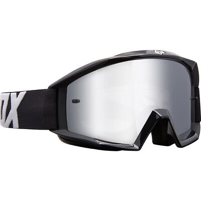 Genuine Fox Main Race Black Kids (Youth) MX Goggles w Mirrored Silver