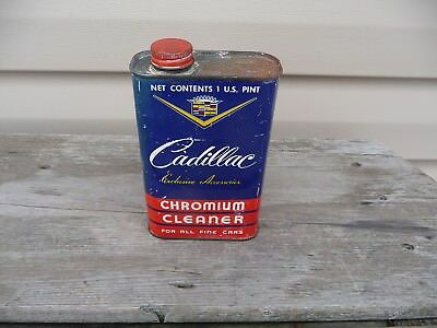 Vintage CADILLAC CHROMIUM CLEANER CAN