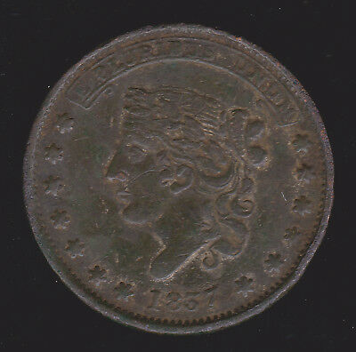 US 1837 Hard Times Token Center Market Accommodation 14th Ward New York LOW 110