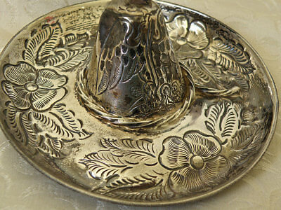 Sterling SOMBRERO Signed JR 925 Sterling,Vintage Mexico