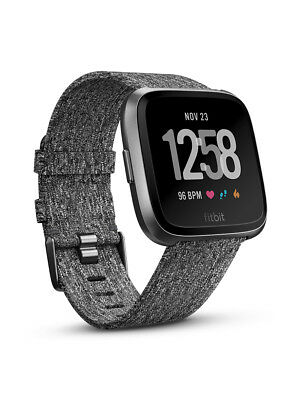 New Fitbit Versa Charcoal Woven Special Edition Preorder For Early May
