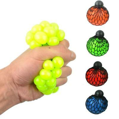 Kids Children Squishy Mesh Ball Grape Mood Squeeze Relief Autism Mood Relief Toy