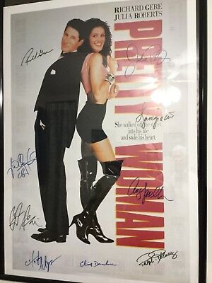 Pretty women autographed poster framed 27x40