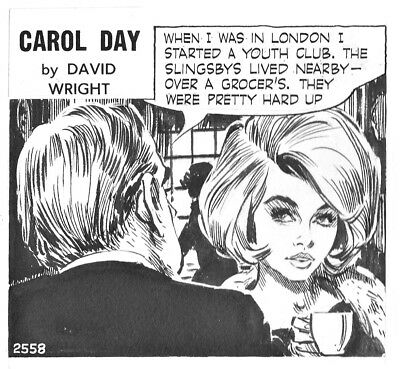Carol Day Strip #2558 by David Wright Carol is a Great Early-1960's Dish, 1964