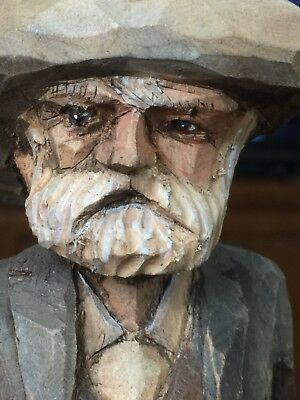 Prospector statue Western gunslinger,  beautifully hand carved in New Mexico.