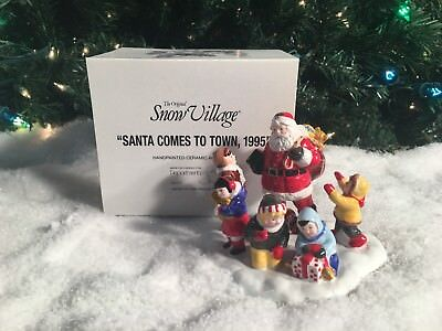 New Department 56 Snow Village Series Santa Comes To Town 1995 5477-1 Accessory