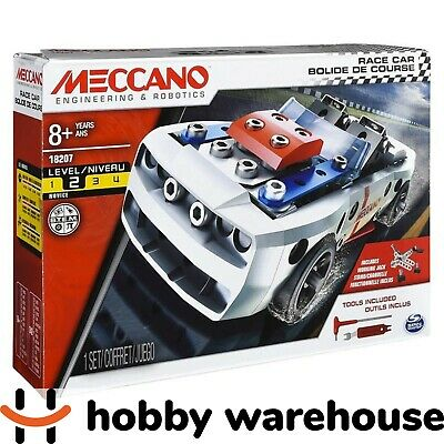 Meccano 18207 Wheels and Moving Parts Construction Set - Race Car