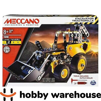 Meccano 18208 Wheels and Moving Parts Construction Set - Excavator