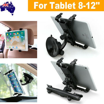 "360°Car Seat Back Headrest Mount Holder 8-12"" Tablet For IPad Mini GPS Bracket"