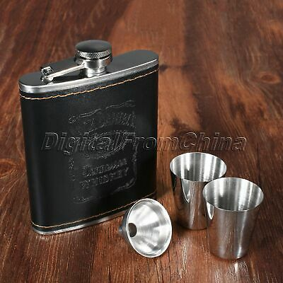 7oz Whiskey Alcohol Wine Flagon Drink Bottle Kitchen Bar Liquor Hip Flask Kit