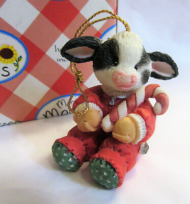 Mary's Moo Moos ~ Candy Cane ~ Christmas Haning Ornament Figurine