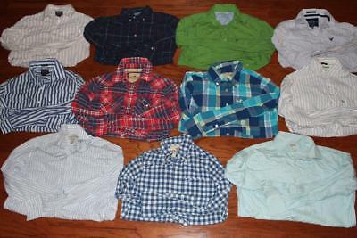 Lot Of 11 American Eagle Hollister Mens Dress Shirts Banana Republic Xs Small