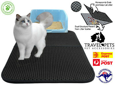Kitty Litter Trapping Mat Double Layer Honeycomb Design Size Large 76cm x 58cm