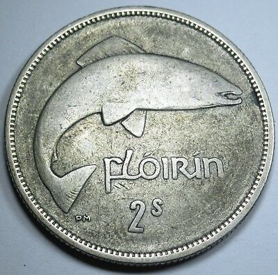 Ireland 1933 Silver 2 Shillings Florin Antique Irish Coin Currency Money