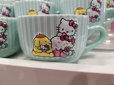 New Sanrio Hello Kitty Pompompur Coffee Mug Sanrio Cup Have a Sweet Day Mug RARE