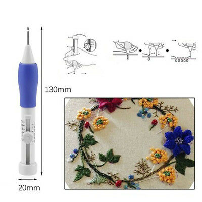 Magic Embroidery Pen Kit Multiple Size Punch Needle Craft Tool for Threaders