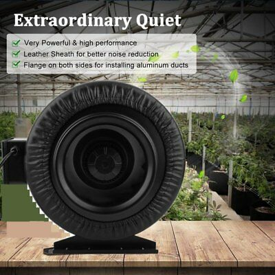 """8""""Inline Duct Fan Grow Room Hydroponic Tent Ventilation Carbon Filter Odor VIP"""