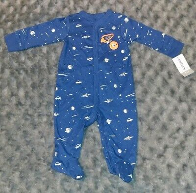 NWT Carters Baby Boy Clothes 6 Months One Piece Space Footie Pajama Sleeper