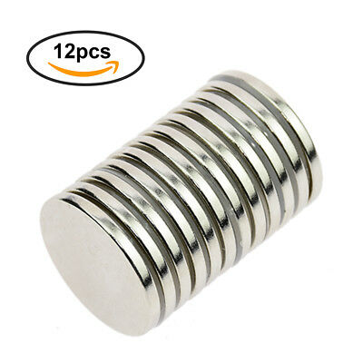 12pcs Super Strong Round Magnets 30mm x 3mm Disc Rare Earth Neo Neodymium