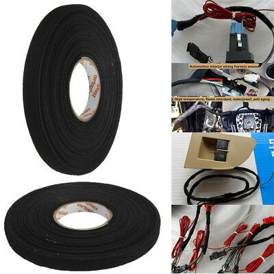 Heat Resistant Wiring Cables Loom Harness Adhesive Cloth Fabric Tape 19MM*15M OZ