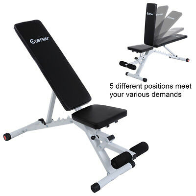 Adjustable FID Weight Bench Heavy Duty Flat Incline Utility Fitness Home Gym