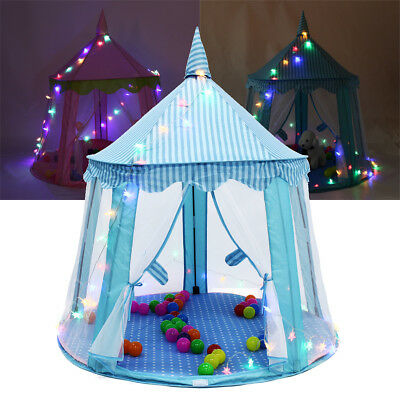 Star LED String Lights Play House Girls Large Indoor/Outdoor Kids Play Tent