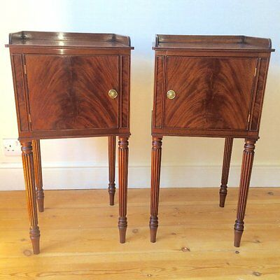 Pair of Gillows Style Mahogany Bedside Cabinets