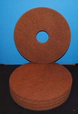 Case of 5 United Chemical & Supply Standard 16-Inch Diameter Buffing Floor Pads