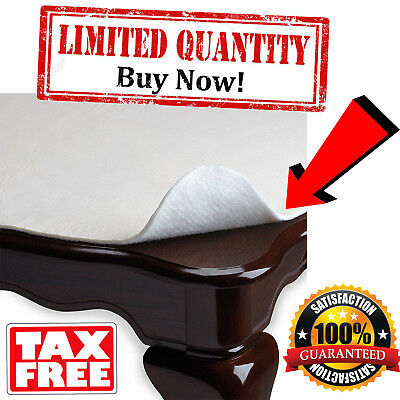 DINING CUSHIONED TABLE Pad Protector With Flannel Backing Desk Hot - Cushioned table pad