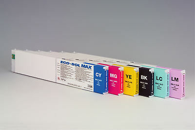 "Roland Eco-Sol MAX Ink 440ml color ""Light Cyan"" ESL3-4LC Original. Fast Ship."