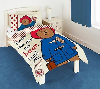 Paddington Bear Single Bed Doona Duvet Quilt Cover Set, Genuine Latest Design
