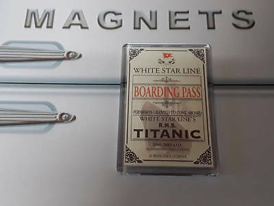 Titanic Boarding Pass Fridge Magnet (1912 Ticket Replica)