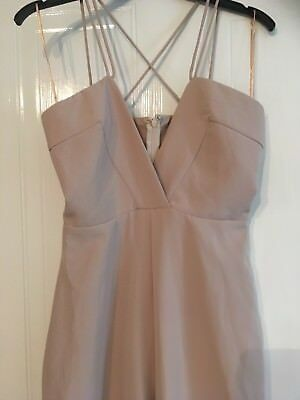 13a7ea268345 MISSGUIDED SIZE 8 Wide Leg Jumpsuit flared Palazzo Beige Camel Cream ...