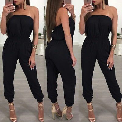Women Ladies Playsuit Party Jumpsuit Romper Long Trousers Pants Clubwear Summer